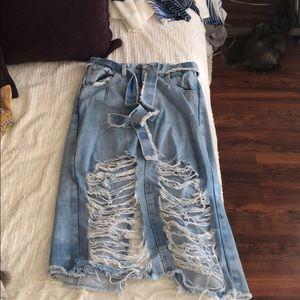 Dresses & Skirts - Long ripped up skirt!